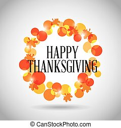 感謝祭, カード, 幸せ