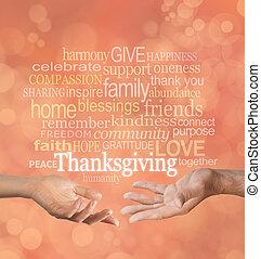 感謝祭, 一緒に, 祝いなさい