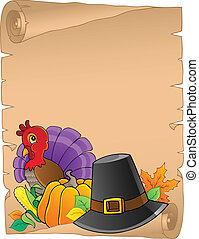 感謝祭, 主題, 羊皮紙, 2