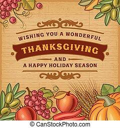 感謝祭, 型, カード