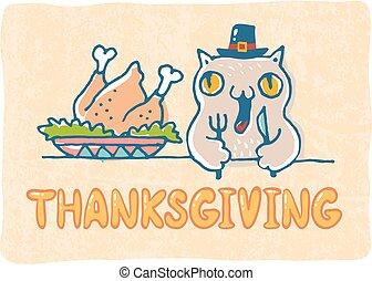 感謝祭, 挨拶, card.