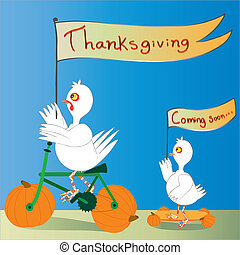 感謝祭, 日, 到来