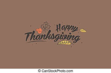 感謝祭, 日, typography., 手, 引かれる, 幸せ, 感謝祭, 日, バックグラウンド。