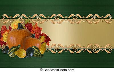 感謝祭, 秋, ボーダー, 秋