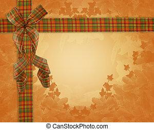 感謝祭, 秋, 秋, リボン, ボーダー