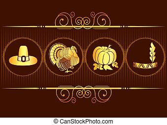 感謝祭, 背景, .vector, 葉書, ∥で∥, トルコ
