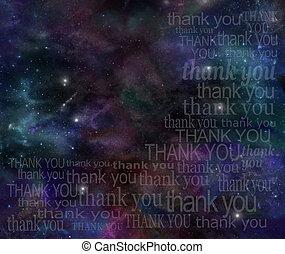 感謝, 宇宙