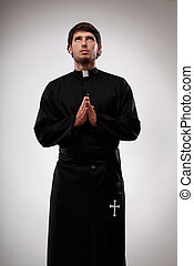 感謝, 神聖, 寄付, 父, 若い, 修道士