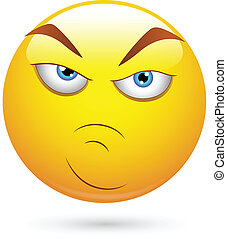 愤怒, smiley, 态度, 脸