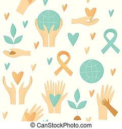 慈善, デザイン, ベクトル, 寄付, 概念