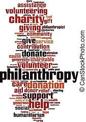 慈善, 単語, 雲