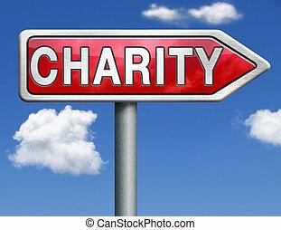 慈善, 道, 矢の 印