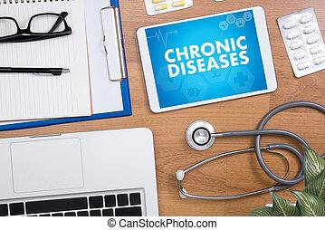 慢性, 疾病, 健康護理, 現代, 醫學的醫生, 概念