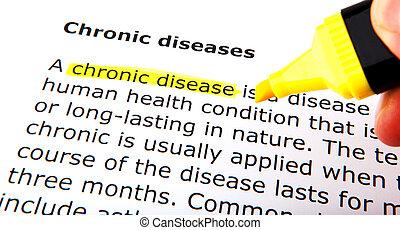 慢性, 疾病