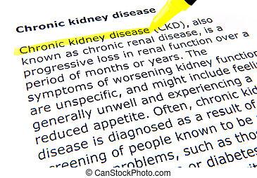 慢性, 疾病, 腎