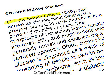 慢性, 腎, 疾病