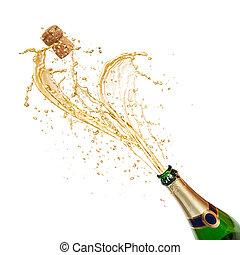 慶祝, 主題, 由于, 飛濺, c