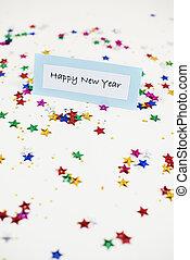 慶祝, 時間, 在, 新年, 天