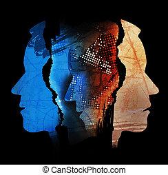 憂うつ, 精神分裂症, マレ, heads., 人間, 悲劇