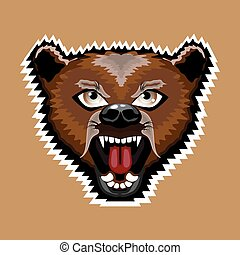 憤怒, 卡通, 熊