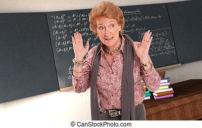 憤怒, 數學, 老師