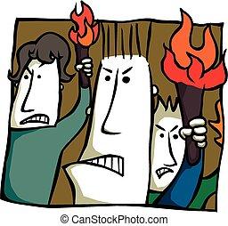 憤怒, 火炬, 送信人
