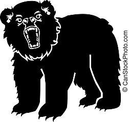 憤怒, 灰色的熊