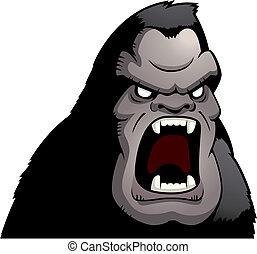 憤怒, 猿