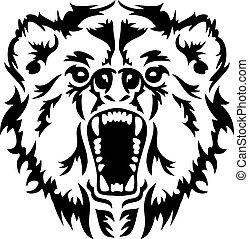 憤怒, 頭, 熊