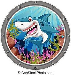 憤怒, 鯊魚, 卡通