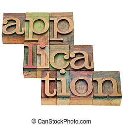應用, 在, letterpress, 類型