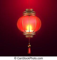 懐中電燈, 現実的, ベクトル, 中国語, 3d