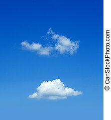 懷特雲, 在, the, 藍色的天空