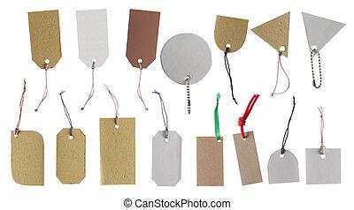 懸挂, 標簽, 禮物記號, 銷售記號, 標价牌, 以及, 標簽