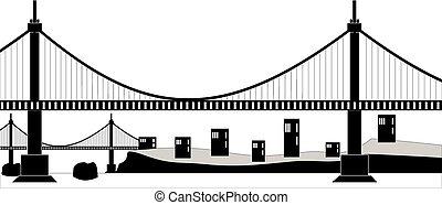 懸濁液ケーブル, 橋