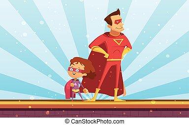 成人した子供, 漫画, 恋人, superheroes