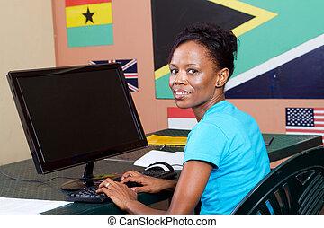 成人の学生, 勉強, コンピュータ