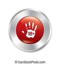 成人, isolated., 年齢, button., 唯一の手, limit.