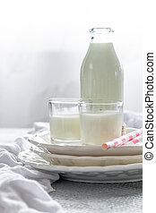 成分, beverage., ミルク, 搾乳場, 主題, 栄養, 健康, 新たに