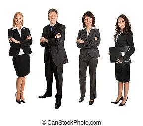 成功した, グループ, ビジネス 人々