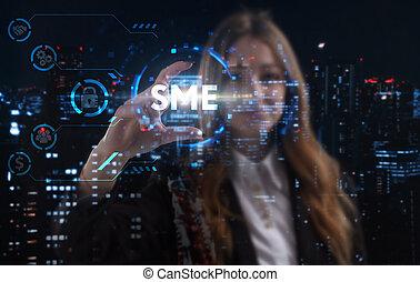 成功した, ビジネス, 若い, ネットワーク, growth:, ステップ, concept., 考える, 技術, ...