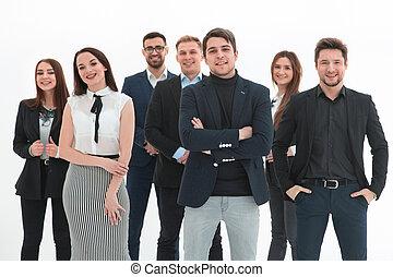 成功した, 人々, -, 白, 上に, 見る, 幸せ, 隔離された, ビジネス