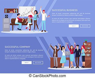 成功した, 会社, ベクトル, ビジネス 実例