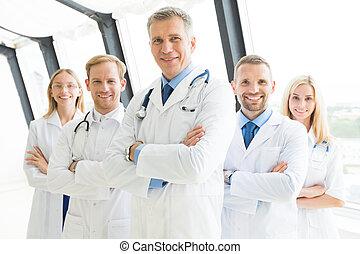成功した, 医学 チーム, 医者