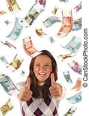 成功した, 投資, (roubles, banknotes)