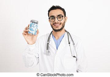 成功した, 推薦, あなた, 医者, 新しい, 若い, 薬, whitecoat
