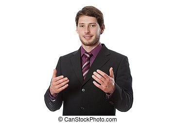 成功した, 若い, ビジネスマン