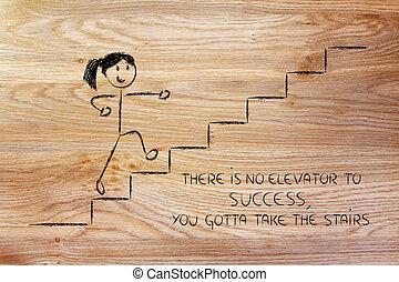 成功, リーチ, デザイン, 概念, ステップ, 表すこと