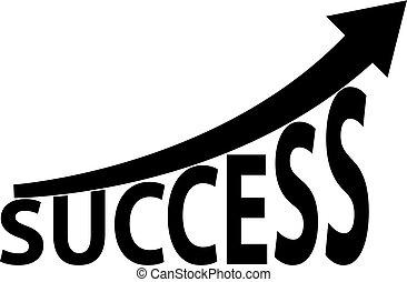 成功, 上向き矢印