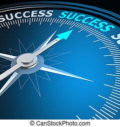 成功, 単語, 上に, コンパス
